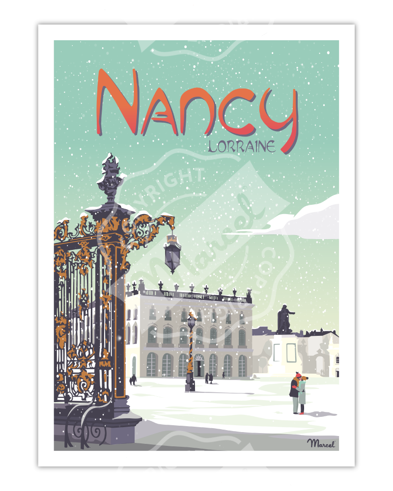 "Affiche NANCY "" Place Stanislas """