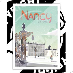 "Poster NANCY "" Place Stanislas """