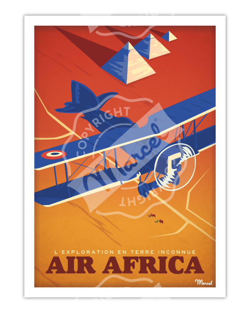 "Poster AEROPOSTALE "" Air Africa """