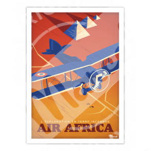 """Poster AEROPOSTALE """" Air Africa """""""