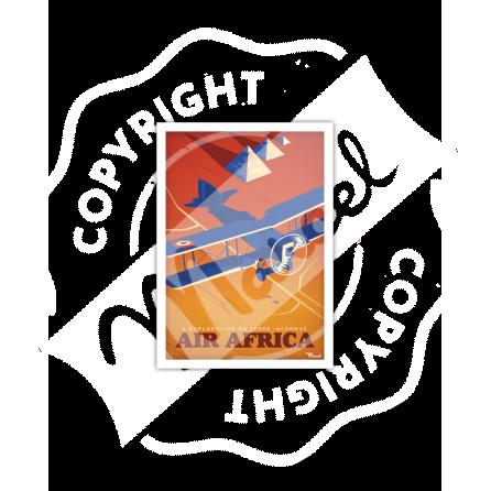 "Carte Postale AEROPOSTALE ""Air Africa"""