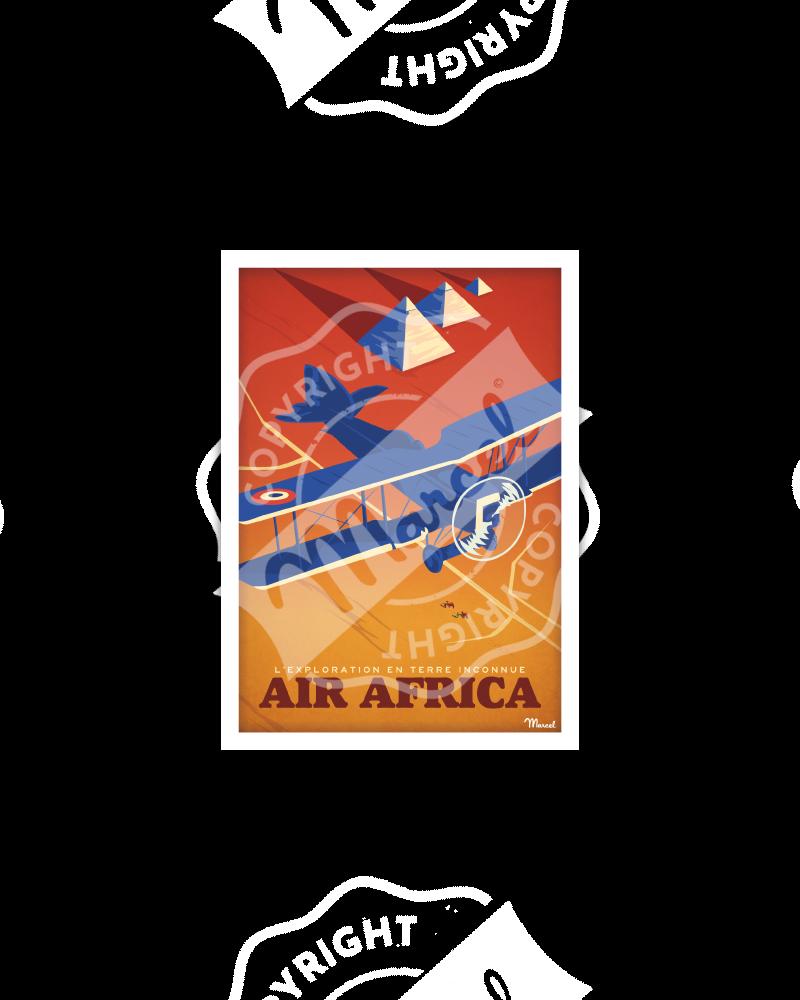 """Carte Postale """"Air Africa"""", Exploration en Terre Inconnue"""