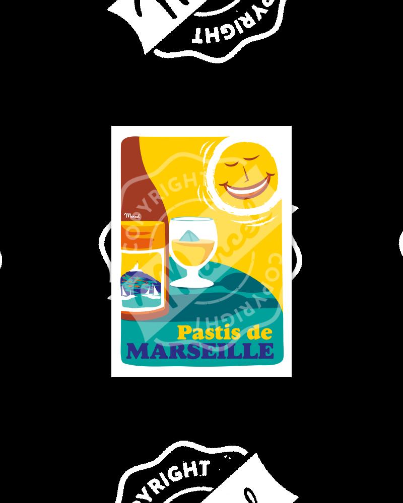 Postcard PASTIS DE MARSEILLE