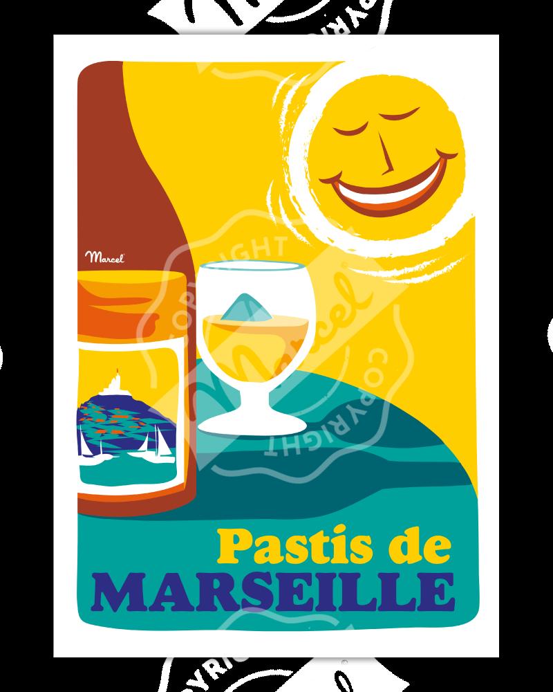 Affiche PASTIS DE MARSEILLE