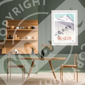 Affiche SKI CLUB