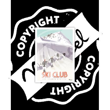 Carte Postale SKI CLUB