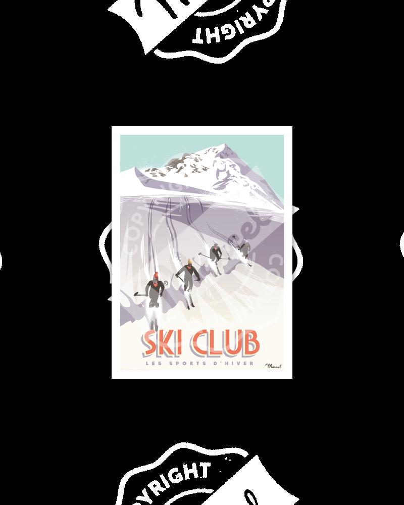 Postcard SKI CLUB