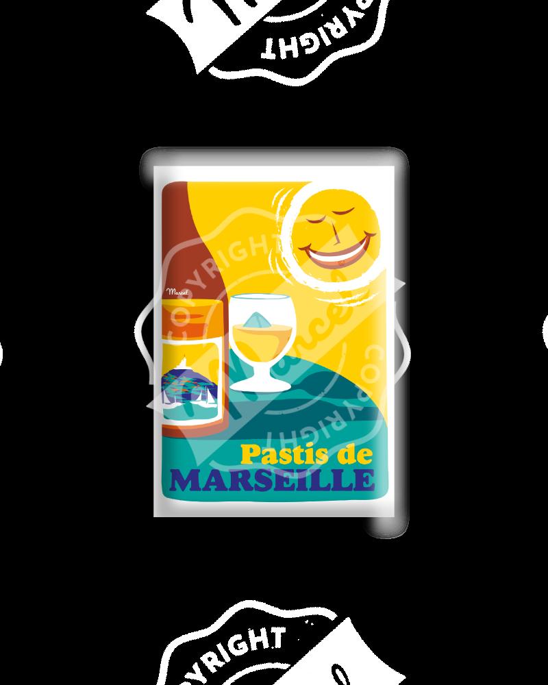 MAGNET PASTIS DE MARSEILLE