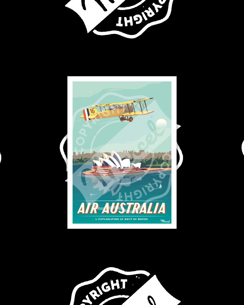 Postcard AIR AUSTRALIA
