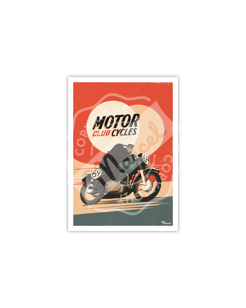 Carte Postale MOTORCYCLES