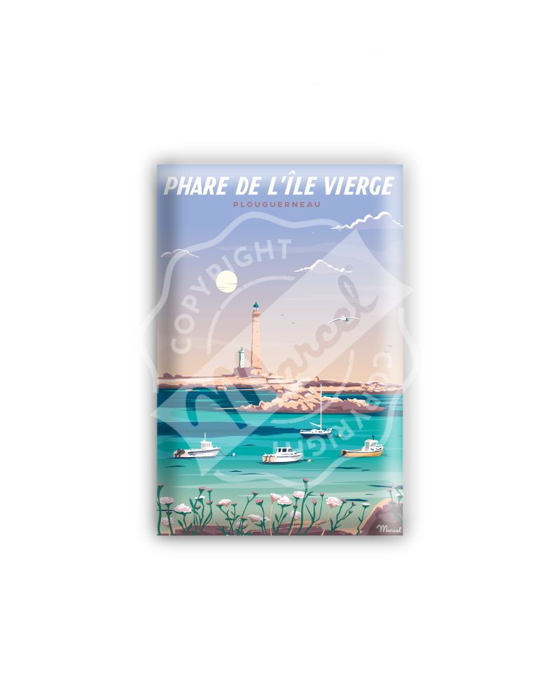 MAGNET PHARE DE L'ÎLE VIERGE