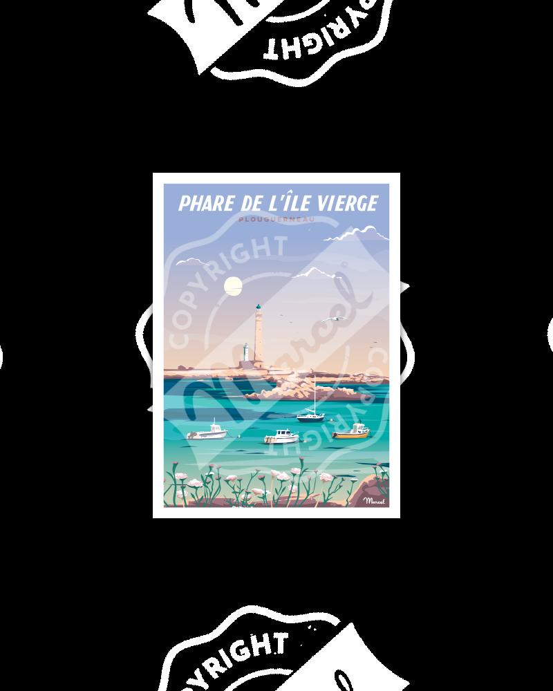 Carte Postale PHARE DE L'ÎLE VIERGE