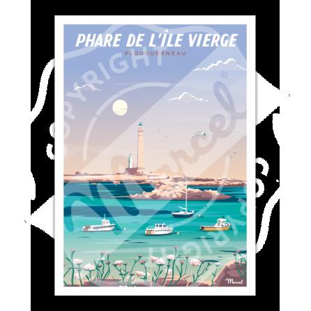 Affiche PHARE DE L'ÎLE VIERGE