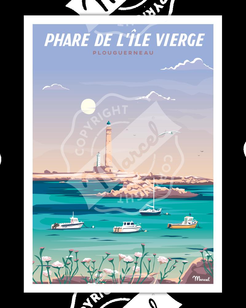 Poster PHARE DE L'ÎLE VIERGE