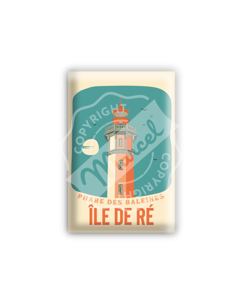 MAGNET ILE DE RE ''Phare...