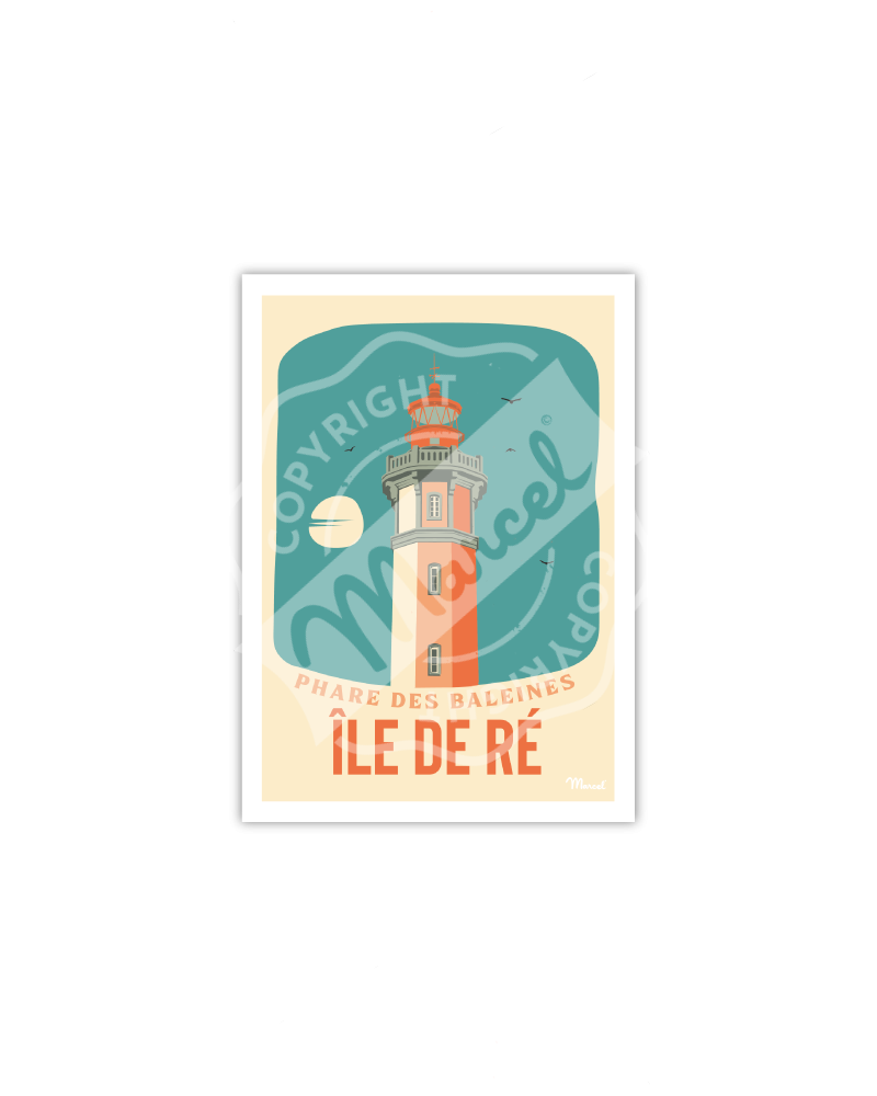Carte Postale ILE DE RE ''Phare des Baleines''