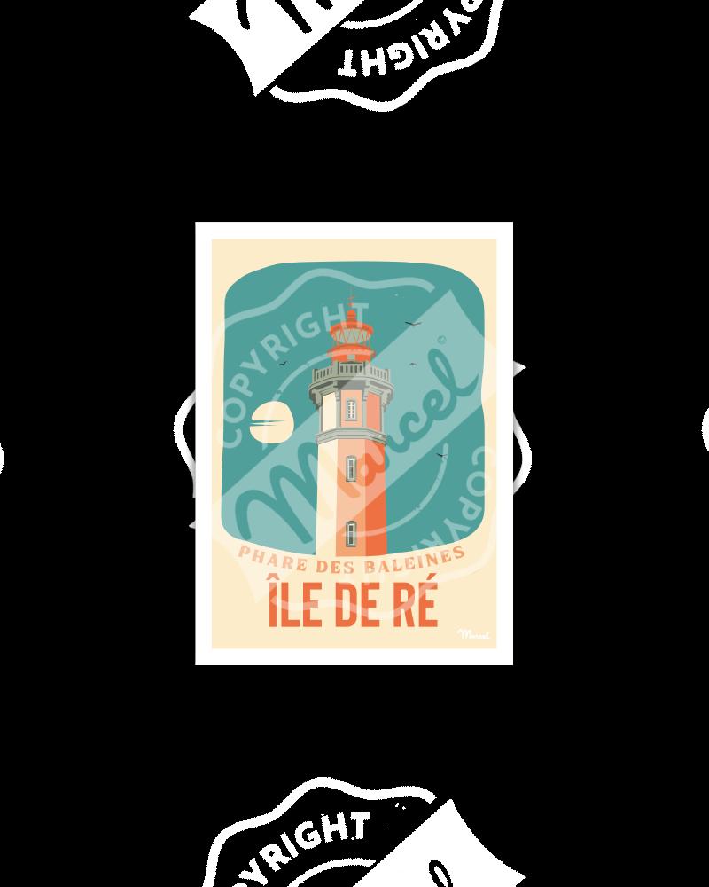 Postcard ILE DE RE ''Phare des Baleines''