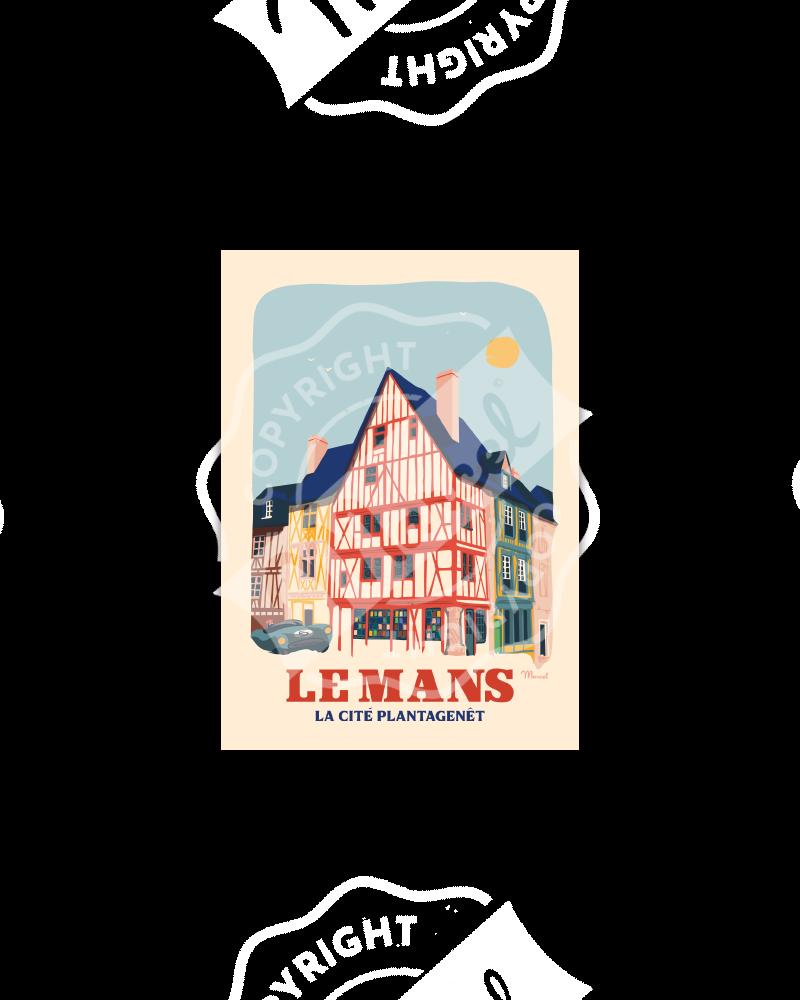 """Carte Postale LE MANS ''Cité Plantagenêt"""""""