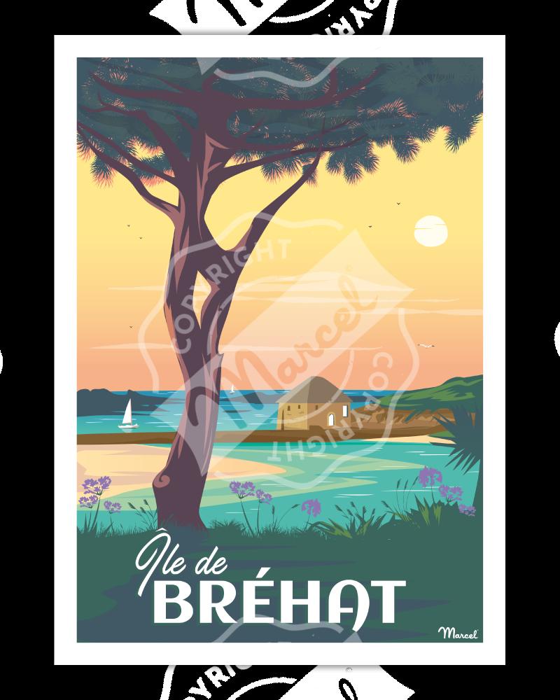 Affiche ILE DE BREHAT