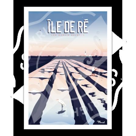 Affiche Île de Ré ''Marais Salants''