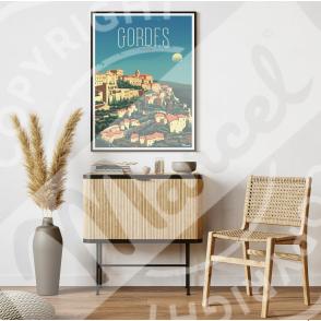 Affiche GORDES ''Le Luberon''
