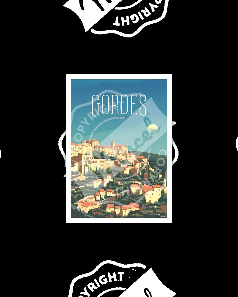 Carte Postale GORDES ''Le Luberon''