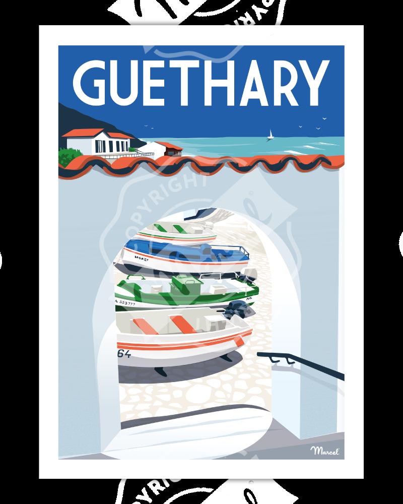 Affiche GUETHARY ''Le Port''