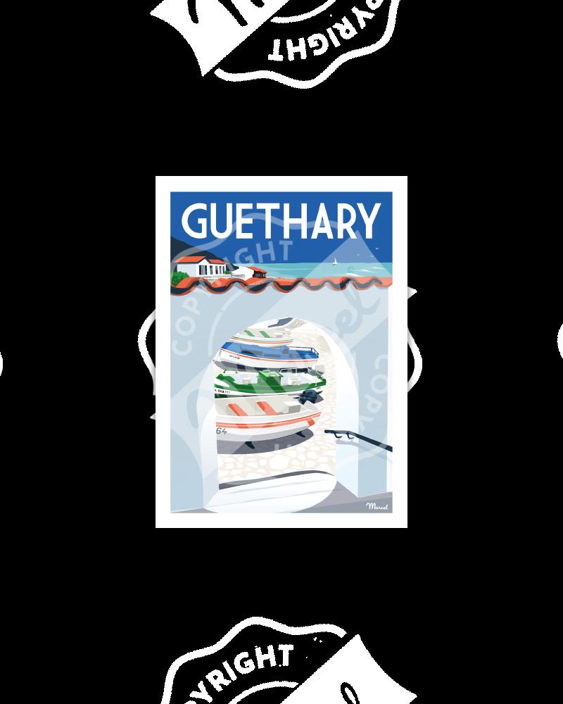 Carte Postale GUETHARY ''Le Port''