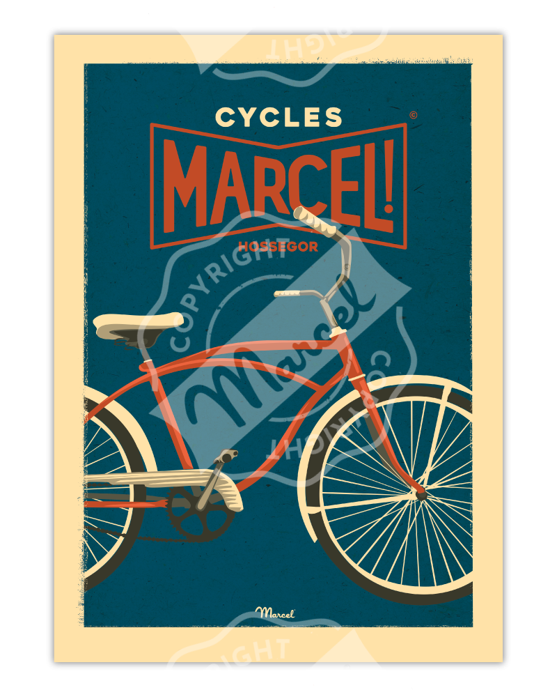 Affiche CYCLES MARCEL