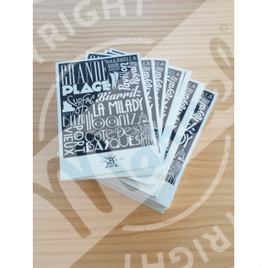 "Carte Postale Biarritz ""Typography"""