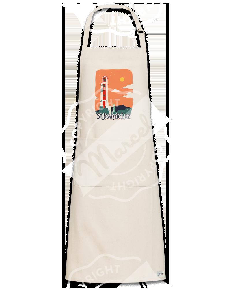 """Kitchen Apron """"Roger"""" - LES PHARES """"Saint-Jean-de-Luz - Ciboure"""""""