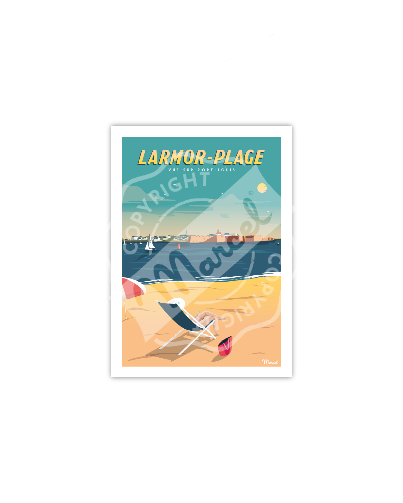 Postcard LARMOR-PLAGE ''Vue sur Port-Louis''
