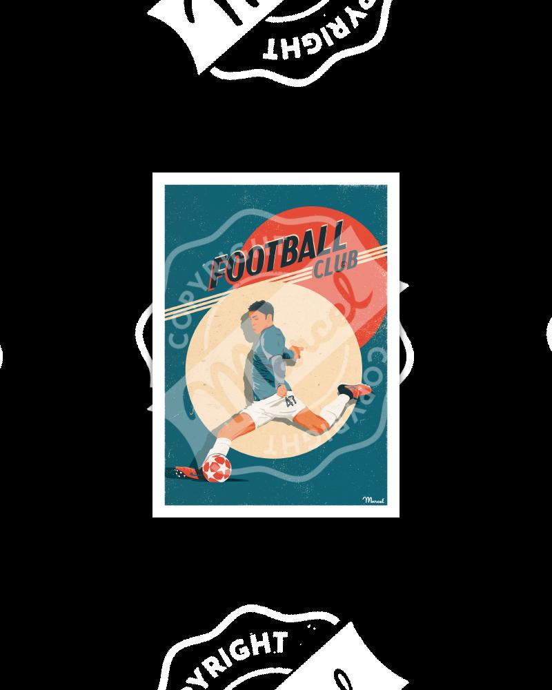 Postcard FOOTBALL CLUB
