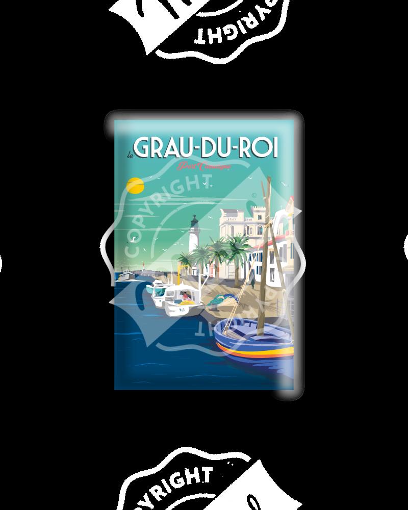 MAGNET LE GRAU DU ROI ''Port Camargue''