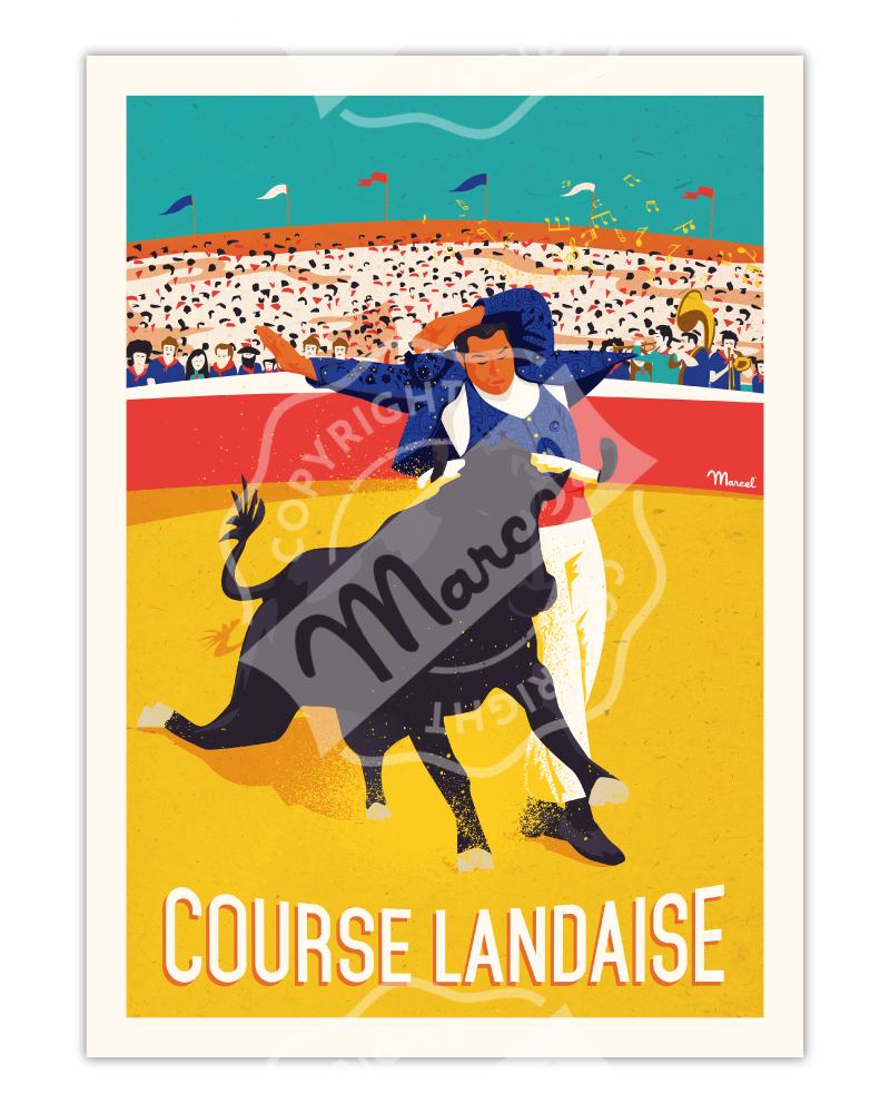 Poster COURSE LANDAISE