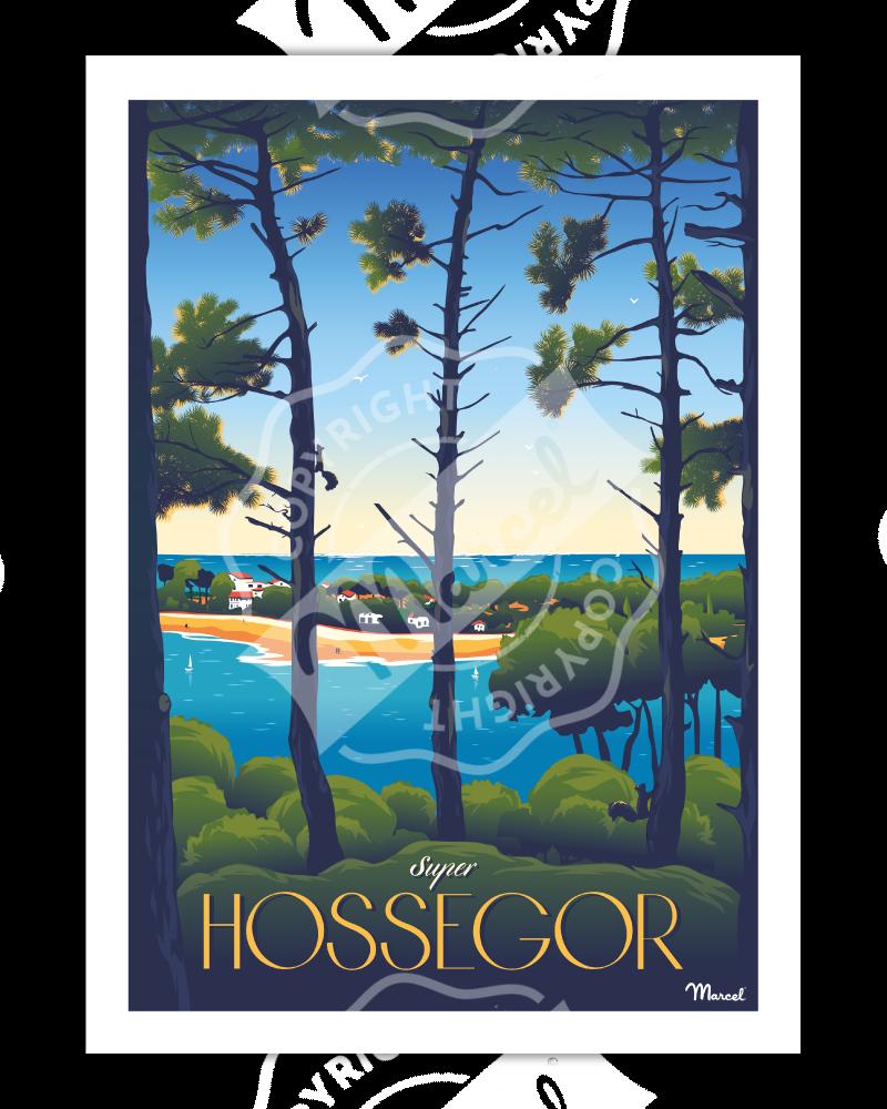 Affiche HOSSEGOR ''Super Hossegor''