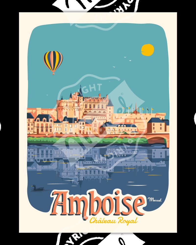 Affiche AMBOISE ''Château Royal''