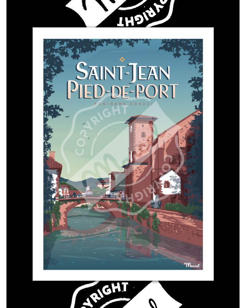 Poster SAINT-JEAN-PIED-DE-PORT