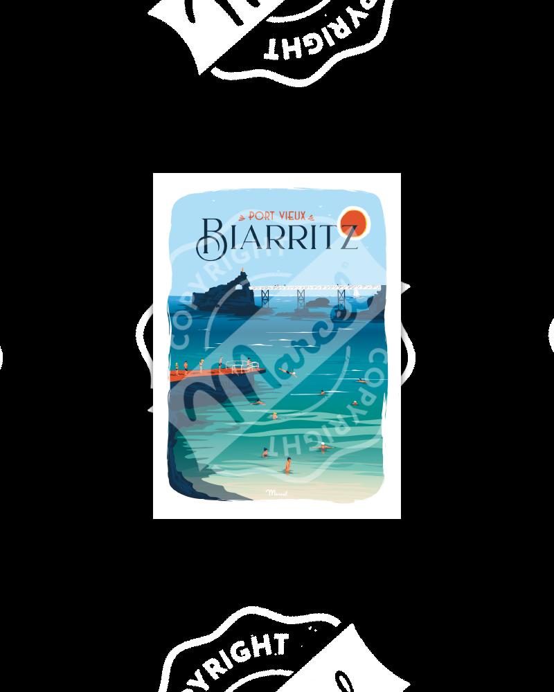 Postcard BIARRITZ ''Port Vieux''