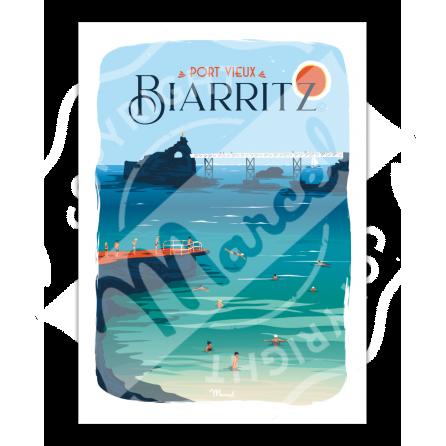Affiche BIARRITZ ''Port Vieux''
