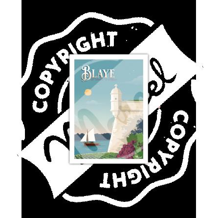 Carte Postale BLAYE ''La Citadelle''