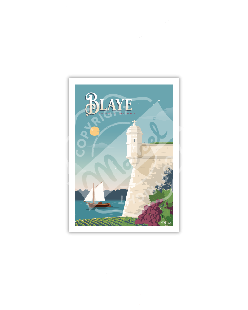 Postcard BLAYE ''La Citadelle''