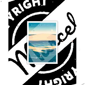 """Carte Postale BASSIN D'ARCACHON """" Banc d'Arguin"""""""
