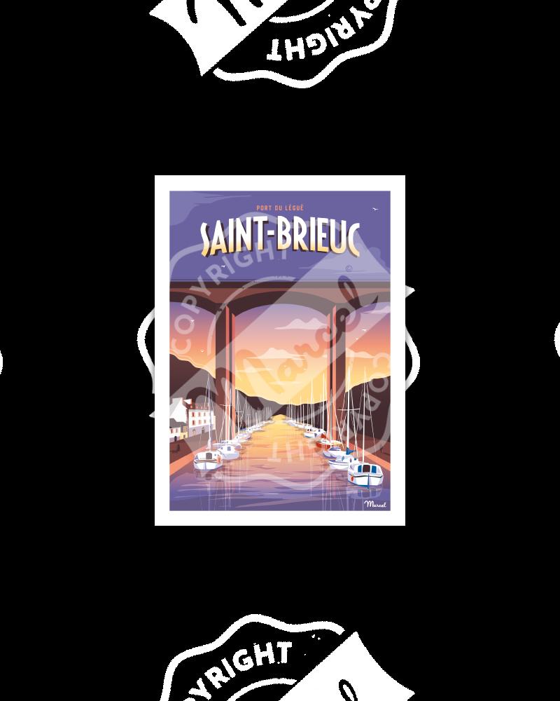 Carte Postale SAINT-BRIEUC ''Port Légué''
