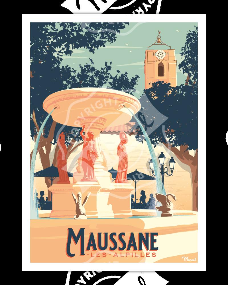 Affiche MAUSSANE-LES-ALPILLES