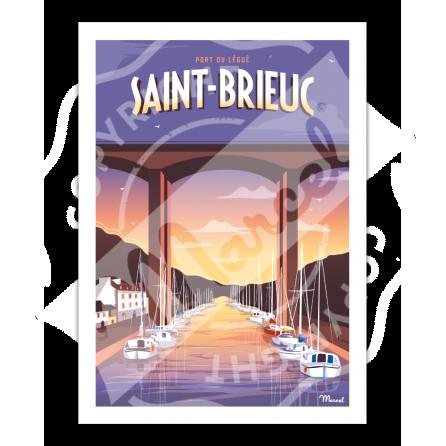Affiche SAINT-BRIEUC ''Port Légué''