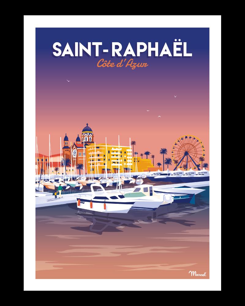 Poster SAINT-RAPHAEL ''Le Port''