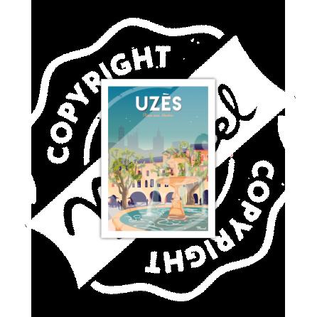 Carte Postale UZES «Place aux herbes»