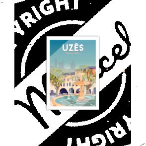 """Postcard UZES """" Place aux herbes """""""