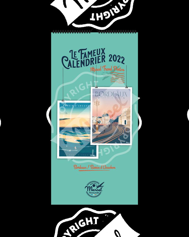 Calendrier Marcel 2022 Bordeaux / Bassin d'Arcachon